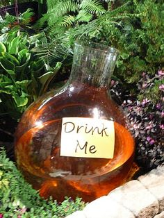 Would love to make these and place them in random areas of the garden - with the special drink for the slugs, ants and other yuckies I don't want in my gardens! garden ideas alice in wonderland Garden Show, Dream Garden, Garden Art, Garden Design, Garden Whimsy, Garden Theme, Landscape Design, Alice In Wonderland Garden, Wonderland Party