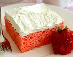 Strawberries and Cream Sheet Cake for Cook for the Cure