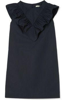Atlantique Ascoli - Vendredi ruffled cotton-poplin mini dress