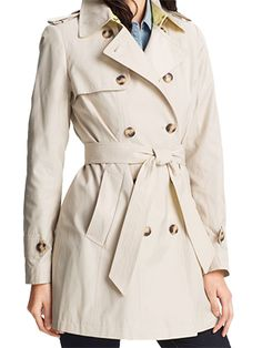 Pleat Back Trench Coat - DKNY @ GetThis.tv $128