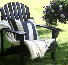 Semi-diy Black Adirondacks~sophisticated Summer Decor - The Yellow Cape Cod