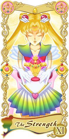 Pretty Guardian Sailor Moon Original Tarot Cards: XI - The Strength | by Ryukia @ Pixiv.net // #sailormoon