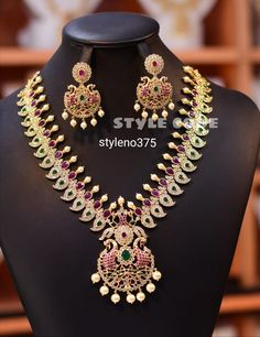 Temple Jewellery, Cz Jewellery, South Indian Jewellery, Wedding Jewelry, Jewelry Design, Fashion Jewelry, Bangles, Bride, Bridal Fashion