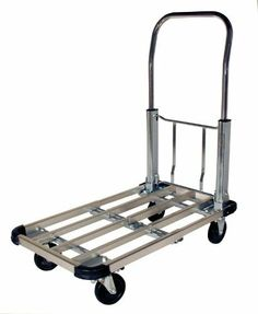 "RWM Casters PT-CA Steel Folding Handle Platform Trucks, 330 lbs Capacity, 28"" Length x 16"" Width x 32-1/2"" Height by RWM Casters. Save 18 Off!. $81.59. Move supplies, files, office equipment, tools, samples or electronics. Steers easily with 4"" hard rubber casters two rigid and two swivel."