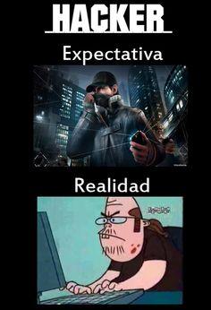 Hacker: expectativa y realidad