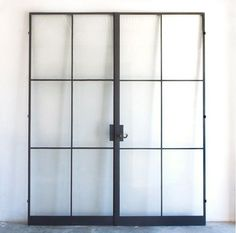 Above: Custom steel frame doors from the Atelier Domingue Architectural Metalcrafts line.