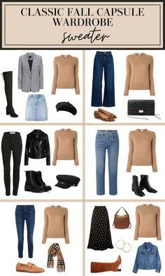Fall Capsule Wardrobe, Capsule Outfits, Fashion Capsule, Mode Outfits, New Outfits, Fashion Outfits, Womens Fashion, Winter Wardrobe, Travel Outfits