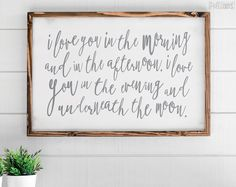 I Love You In The Morning - Wood Sign - Skidamarink - 35x23 - Pretty In Polka Dots - 35x23-horizontal-i-love-you-in-the-morning-1