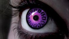 cyberpunk, alternative, eye, goth, futuristic, contact lenses, futuristic look, violet, dark, fantasy, purple