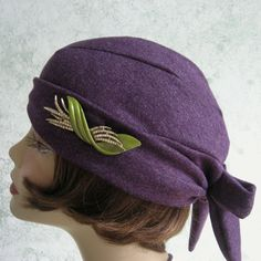 Womens 1930s Hat Pattern Back Wrap Design Easy To by kalliedesigns, $4.25
