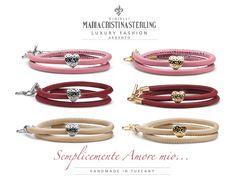 Gioielli moda made in Tuscany Italy bracciali argento love designed Alessandro Magrino