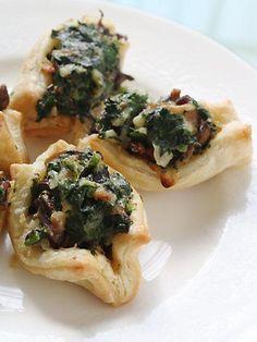 Spinach & Pancetta Barquettes
