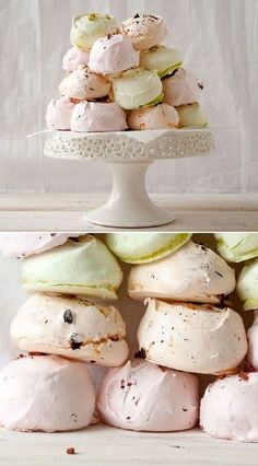 Gourmet Meringues The perfect addition to any dessert table. Gourmet MeringuesThe perfect addition to any dessert table. Spring Desserts, Mini Desserts, Just Desserts, Delicious Desserts, Yummy Food, Gourmet Desserts, Spring Recipes, Meringue Cookies, Cake Cookies