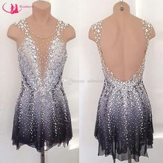 2017 Attractive Big Girls Custom Skating Dresses Graceful Sleeveless Ice Skating Dresses For Competition With Beads Crystals From Abfeelin, $241.21 | Dhgate.Com