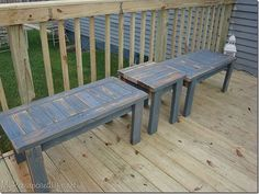 repurposed old fence wood | My Repurposed Life made these adorable benches and table from an old ...
