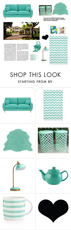 """""""Teal is my color! How about YOURS?"""" by bearteddyblitz on Polyvore featuring interior, interiors, interior design, home, home decor, interior decorating, Fearne Cotton, PBteen, Price & Kensington and Martha Stewart"""