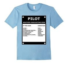 Men's Pilot Aviation Weather Forecasting Sign - Funny T-Shirt 2XL Baby Blue