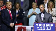 Nigel Farage, the former leader of the UK Independence Party and a chief proponent of the British exit, attended the Donald Trump rally and compared this election to Brexit.