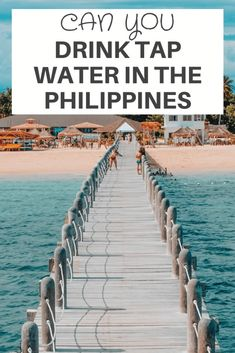 Can You Drink Tap Water In The Philippines? The question of whether can you drink tap water in the #Philippines is a common question asked and is one sure way to ruin your visit to the Philippines. It is NOT advised to drink tap #water in the Philippines this is due to their lack of #infrastructure. Let us explore this in more detail! #tapwater #travel #backpacking Philippines Travel Guide, Visit Philippines, Philippines Beaches, Philippines Culture, Chemical Waste, Water Branding, Water Sources, Water Treatment, Water Supply