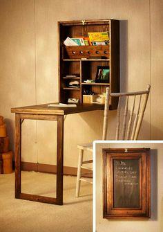 Great fold away desk design