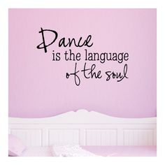 Found it at Wayfair - Dance Language of the Soul Wall Decal