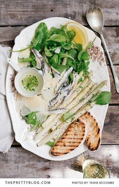 A fabulous starter by The Food Fox: White Anchovy&Asparagus Salad | Recipe | Photograph by Tasha Seccombe | http://www.theprettyblog.com/food/white-anchovy-asparagus-salad-food-fox/
