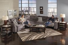 Enjoy the comfort and style of the Hammond Collection by Catnapper. Designed with comfort in mind, this collection offers Extra Wide Two-Seater Design, Extra Comfortable Pub Backs, Chaise Pad Seat for Ultimate Comfort, and Plush Super-Soft Durable Fabric. Living Room Sets, Living Room Furniture, Living Spaces, Wolf Furniture, Furniture Ideas, Sectional Sofa With Recliner, Reclining Sectional, Couches, Catnapper Furniture