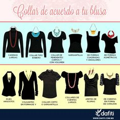 Que collar usar segun el corte de blusa #fashion #tips #necklace
