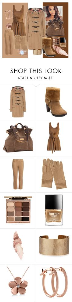 """Duffled"" by kelly-floramoon-legg ❤ liked on Polyvore featuring Burberry, Zimmermann, 'S MaxMara, Uniqlo, Stila, Butter London, Maybelline, Panacea, Allurez and Pori"