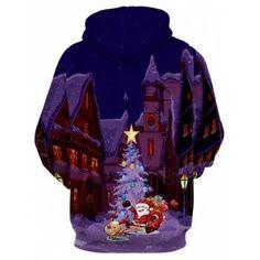 Santa Clause Castle 3D Print Christmas Hoodie - COLORMIX COLORMIX