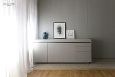 Apartment #Roma, 2014 project by: Manuela Tognoli and Filippo Pernisco  #cucina #kitchen #livingroom #grey
