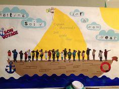 Back to school bulletin board #backtoschool #sailing #bulletinboard