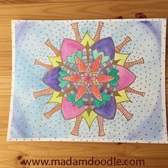 How to draw a symmetrical mandala