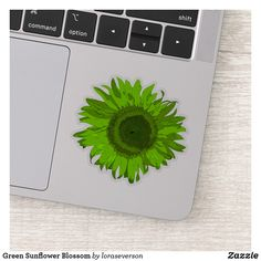 Green Sunflower Blossom Sticker This cheerful Green Sunflower Contour Sticker will brighten up your laptop computer or water bottle. This cute cutout sticker features a digitally enhanced floral photograph of a bright lime green garden sunflower blossom. Perfect for a flower lover, gardener or florist. #stickers #sunflowers #sunflowersticker Diy Gifts, Best Gifts, Handmade Gifts, Blossom Garden, Sunflower Gifts, Farewell Gifts, Vinyl Sheets, Appreciation Gifts, Dog Bowtie