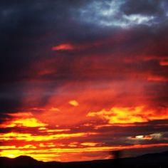Beautiful sunset I snapped in Helena Montana