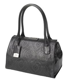 Another great find on #zulily! Obsidian Heathrow Holdall Leather Satchel by Petunia by Petunia Pickle Bottom #zulilyfinds