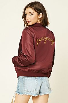 Love Yourself Bomber Jacket