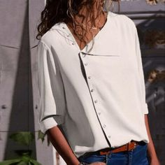 Active Hdy Haoduoyi Fashion Solid Color Women Blouses Crew Neck Batwing Sleeve Sheer Chiffon Tops Street High Low Loose Casual Shirts Women's Clothing