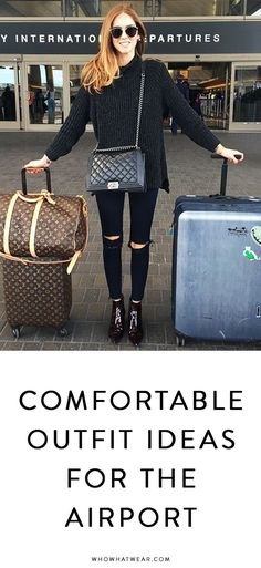 The most comfortable clothes to wear to the airport and travel in #traveloutfits