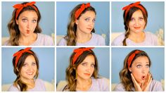Six DIY 1-Minute Bandana Hairstyles | Cute Girls Hairstyles