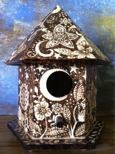 Woodburn Birdhouse on Etsy, $45.00