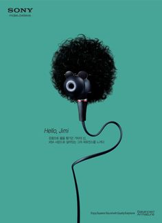 Sony Earphone: Jimi Hendrix