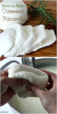Homemade Mozzarella Cheese How To Make Your Own - Cheese Recipes Recipes With Mozzarella Cheese, Cheese Recipes, Mac And Cheese, Fresh Mozzarella, Homemade Mozzerella, Homemade Cheese, How To Make Cheese, Food To Make, Making Cheese At Home