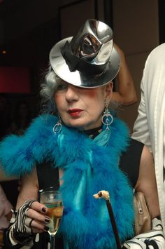 Anna Piaggi, fashion journalist and style icon.