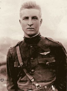 WW I flying ace, Frank Luke Jr., called the Arizona Balloon-Buster for his record in shooting down German observation balloons, which were usually heavily defended.  Did not survive the war. This picture was taken 11 days before his death.  http://www.pinterest.com/cycle301/ww1/