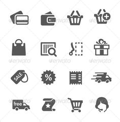 Shopping Icons — Vector EPS #wallet #business • Available here → https://graphicriver.net/item/shopping-icons-/7928736?ref=pxcr