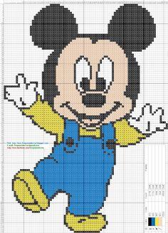 Dibujos Punto de Cruz Gratis: Mickey and Amigos