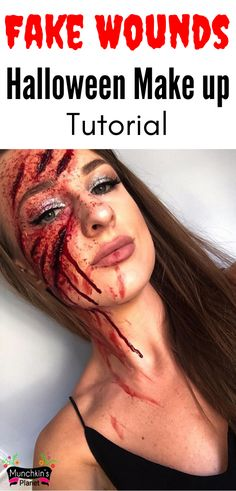 Learn how to make fake wounds makeup for Halloween. In this simple and easy step by step tutorial video learn everything about making a fake scar, deep cut and creepy Halloween makeup. #halloweenmakeup #spookymakeup #diymakeup #creepymakeup Cute Couple Halloween Costumes, Creepy Makeup, Diy Halloween Costumes For Kids, Halloween Makeup Looks, Halloween Make Up, Halloween Horror, Halloween Couples, Halloween Outfits, Halloween Party