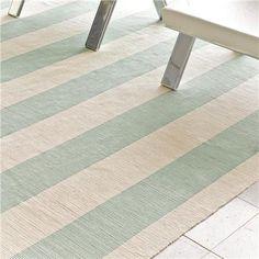 wide stripe flat weave rug