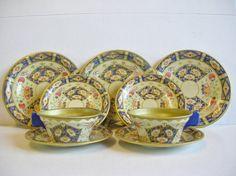 Vintage Chad Valley Tinplate Dolls Tea Set  by VintageToyWorld, £9.00